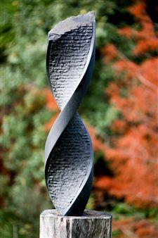 "Richard Page, ""Synergy"" | Basalt | $14,800 | Source: www.art-mine.com/... | Agora Gallery | Contemporary Fine Art | NYC, NY"
