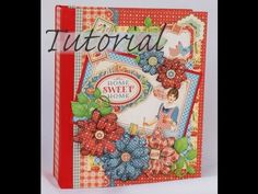 PART 1 TUTORIAL HEARTFELT CREATIONS RAINDROPS ON ROSES MINI ALBUM Read Disclaimer DESIGNS BY SHELLIE - YouTube