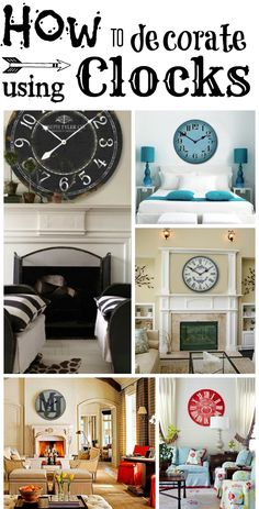 Wall Clock Decor on Pinterest