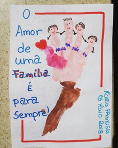 Dia da familia 15 maio Drawing For Kids, Art For Kids, Crafts For Kids, Art Activities For Kids, Teaching Kindergarten, Family Day, Creative Cards, Classroom Decor, Mother Gifts