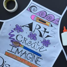 Painting aprons for local Boutiques