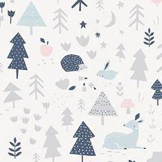 Amazon.com : Carousel Designs Gray and Pink Baby Woodland Crib Sheet : Baby