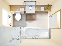 Ideas for a small bathroom - interior design examples Small Bathroom Plans, Bathroom Sets, Modern Bathroom, Small Bathrooms, Dyi Bathroom, Master Bathrooms, Bathroom Hardware, Bathroom Fixtures, Amazing Bathrooms