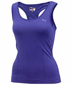 Puma - Damen Lauftop Ess Gym Racerback Tank - lila #workout #running #sportsfashion