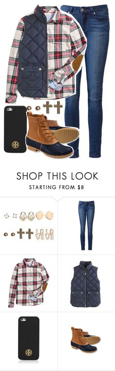 """""""outfit #22."""" by madisons-outfits ❤ liked on Polyvore featuring Wet Seal, Paige Denim, H&M, J.Crew, Tory Burch, L.L.Bean and madisonsoutfits"""