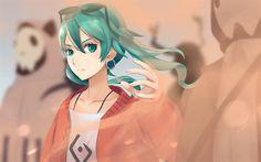 Download wallpapers Hatsune Miku, 4k, moon, Suna no Wakusei, manga, Vocaloid