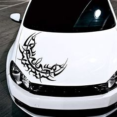 Car Decals Hood Decal Vinyl Sticker Flower Floral Pattern Auto - Best automobile graphics and patterns