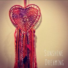 Colourful Heart Doily Dreamcatcher