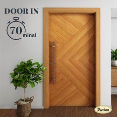 Modern Entrance Door, Main Entrance Door Design, Front Door Design Wood, Wooden Door Design, Entrance Doors, Wooden Doors, Main Gate, Main Door, Buy Furniture Online