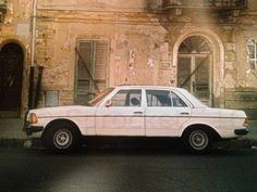 """My old W123/240D out of the early 82´s (Mopf 2), 6,5J 14"""" Fuchs, Hirschmann Taxi private mobile radio antenna near Siena/Italy in 1997"""