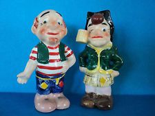 MAMMY AND PAPPY YOKUM SALT PEPPER SHAKERS 1950's RARE RARE LI'L ABNER