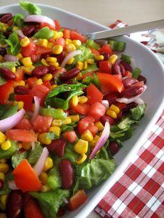Μεξικάνικη σαλάτα (6) Fruit Salad, Cobb Salad, Appetisers, Allrecipes, Salad Recipes, Ethnic Recipes, Food, The One, Gastronomia