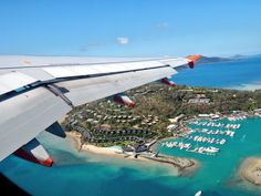 Flying over Hamilton Island