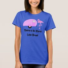 Retro Camper Pink Flamingo T-Shirt many other colors available!