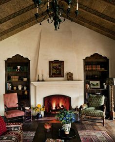 Spanish Colonial Living Room in Los Angeles, CA