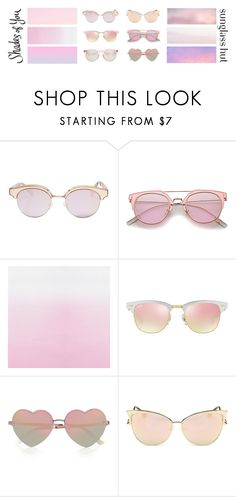 """Shades of You: Sunglass Hut Contest Entry"" by sevenpixpig ❤ liked on Polyvore featuring Le Specs, Ray-Ban, River Island, Quattrocento, Seed Design, Pink, sunglass and shadesofyou"