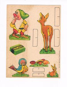 Snow White Seven Dwarfs 1937 Palmolive Soap Card 2