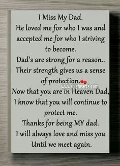 Missing Dad In Heaven Quotes I miss my dad. Daddy I Miss You, Rip Daddy, Love You Dad, Missing Daddy In Heaven, Missing Family, Missing Father, Tu Me Manques Papa, Remembering Dad, In Memory Of Dad