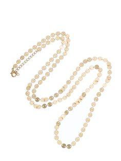 Cote D'Azur Rue Meynadier gold disc necklace ($68)