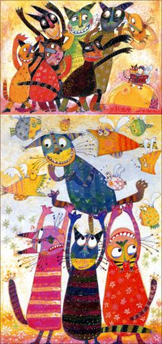 Jung, Ji-yee, who usually draws a cat as an object and shows vivid colored and emotional works, said that a driving force of her work was from her childhood memories.