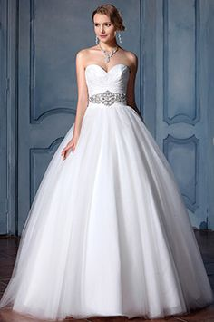 eDressit Strapless Tulle Beaded Mermaid Wedding Dress (F04014589)
