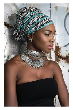 Head Wrap on a beautiful African lady.