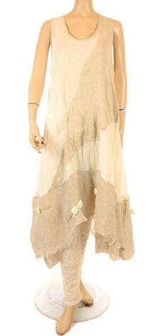 Martine Samoun Natural & Soft White Linen Dress