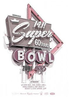 Stephan Walter lives and works in Zurich where he was born in Stephan started work in the graphic design world at an advertising agency. During his time at the agency he made up his mind that the. Typography Letters, Lettering, Supreme, Super Bowl 2015, Advertising Agency, Vintage Ads, Neon Signs, Graphic Design, Bright Lights