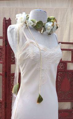 Wedding slip dress Pixie Wedding Boho Chic Romantic by KisKissay, $55.00