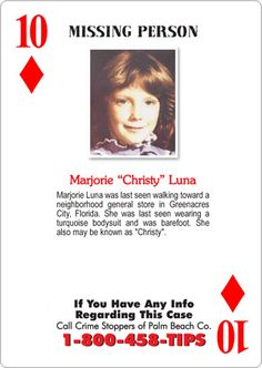 missing people | missing-person playing card.