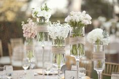 These glasses used as vases is absolutely beautiful!! <3