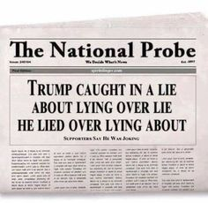 Trump tells so many lies he forgets and confuses himself, and simply loses track of his multi-layered constructs of lies, upon lies, upon lies, ad infinitum .....