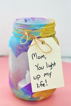 Easy and Thoughtful Mother's Day Crafts the Kids Can DIY A DIY mason jar votive is a Mother's Day gift kids can help create and Mom will love. A DIY mason jar votive is a Mother's Day gift kids can help create and Mom will love. Diy Gifts For Mothers, Diy Father's Day Gifts, Mothers Day Crafts For Kids, Father's Day Diy, Fathers Day Crafts, Mothers Day Cards, Craft Gifts, Gifts For Kids, Mothers Day Present