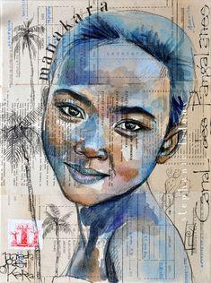 Drawing Portraits - Stéphanie Ledoux - Carnets de voyage: REPROS Discover The Secrets Of Drawing Realistic Pencil Portraits.Let Me Show You How You Too Can Draw Realistic Pencil Portraits With My Truly Step-by-Step Guide. Kunstjournal Inspiration, Art Journal Inspiration, Art And Illustration, Illustrations, Pintura Graffiti, Pop Art, Art Du Collage, Art Visage, Art Sur Toile
