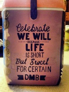 """""""Celebrate we will"""" Get your YETI cooler form http://www.desotowarehouse.com/"""
