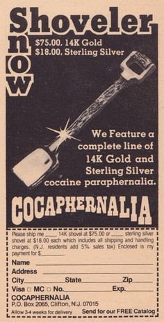 Narcos-Fans graben alte Werbeanzeigen für Koksutensilien aus den 1970ern aus   Motherboard