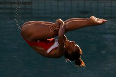 Jennifer Abel of Canada competes in the Women's Diving 3m Springboard Final on…