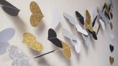 Items similar to Black and Gold New Year's Eve photo booth props Gold Silver garland Gold wedding White Black wedding decor bachelorette party Valentine on Etsy Glitter Hearts, Silver Glitter, Silver Garland, Paper Hearts, Photo Booth Props, New Years Eve, Gold Wedding, Wedding Decorations, Black Gold
