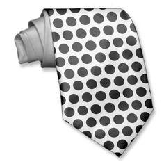 Black Polka Dots Tie Polka Dot Tie, Custom Ties, Black Dots, Unique Image, White Shop, Pattern, Prints, Color, Design