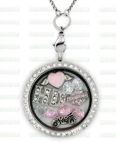 Perfect LocketFor HarleyFans! Not Sold In Stores! Swarovski Crystals Material: Stainless Steel Locket and Chain Locket Size: 30 mm Chain Size 30 Inch Pl