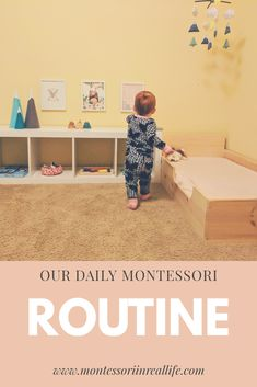 Our Toddler's Daily Routine, Montessori Style Daily Montessori Routine at 18 Months – Montessori in Real Life Montessori Playroom, Montessori Education, Montessori Activities, Infant Activities, Montessori Toddler Bedroom, 18 Month Activities, Toddler Playroom, Montessori Elementary, Toddler Routine