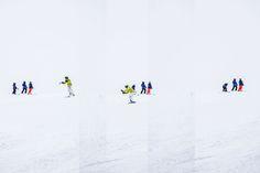 Ski 03 – Sequentielle Skiszenen in alpinem Weiß. Anschlüsse, Unterbrechungen, Zusammenkünfte. 2015, MD | © www.piqt.de | #PIQT