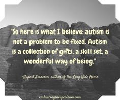 autism is a collection of gifts