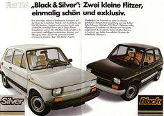 Fiat 126 Black, Silver | < 39° pl fm (fiat,drive) https://de.pinterest.com/polski126/fiat-126/