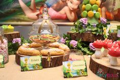 Tinker Bell Inspired woodland fairy party Birthday Party Ideas | Photo 1 of 37 | Catch My Party
