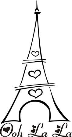 Ooh La La Eifel Tower Vinyl Art by Designs on Vinyl, Paris Birthday Parties, Paris Party, Paris Theme, Decoupage Vintage, Silhouette Projects, Silhouette Cameo, Eiffel Tower Drawing, I Love Paris, Thinking Day