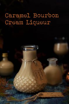 A drop of Caramel Cream Liqueur on a cool evening is quite a treat. The smooth and warming taste of Bourbon compliments the creamy caramel flavour of this drink superbly. This fantastic creamy tipple should delight caramel lovers. Cocktails, Cocktail Drinks, Cocktail Recipes, Alcoholic Drinks, Beverages, Bourbon Drinks, Party Drinks, Homemade Alcohol, Homemade Liquor