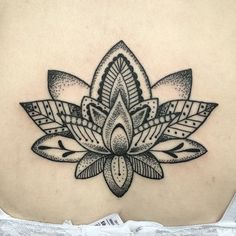 #mulpix I just tattooed this mandala style lotus , it was jades first tattoo…