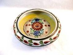 Tonola Round Mexican Pottery - Beautiful eclectic piece from #LadyLindasLoft