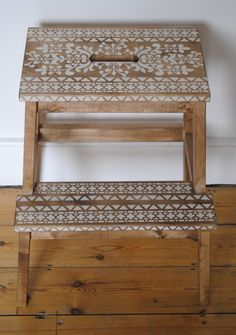 Do something similar with white paint and a different stencil pattern Buy Annie Sloan Chalk Paint® from local stockist Brenda Brown @ Annex of paredown in Ann, Arbor